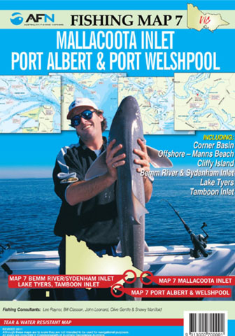 Mallacoota  Port Albert  Port Welshpool Fishing Map 7 AFN